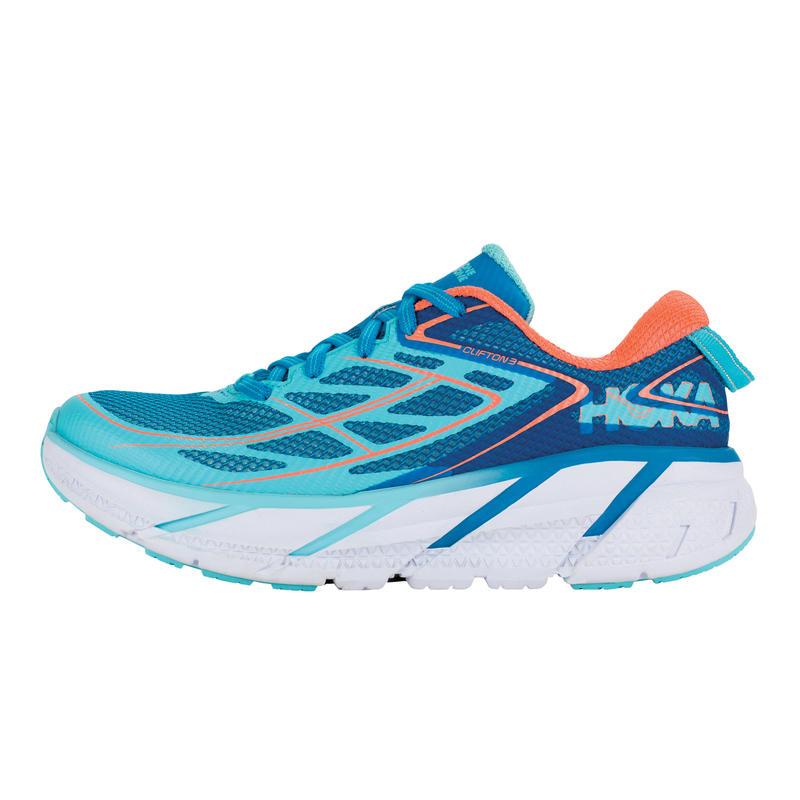 Chaussures de course Clifton 3 Bijou bleu/Corail néon