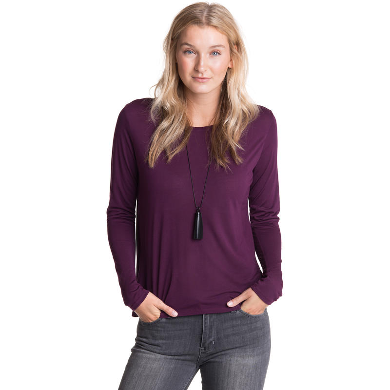 In The Know Long-Sleeved Top Mulberry