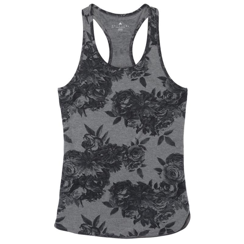 Débardeur à imprimé Tonal Flower Bruyère gris foncé/Noir
