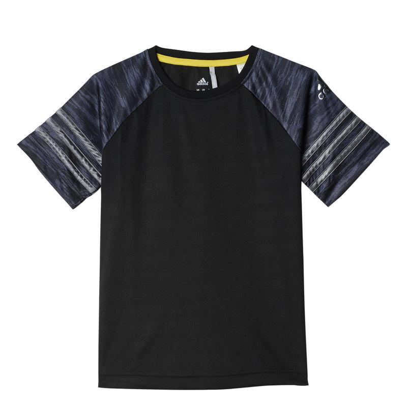 T-shirt en polyester Noir/Gris vista