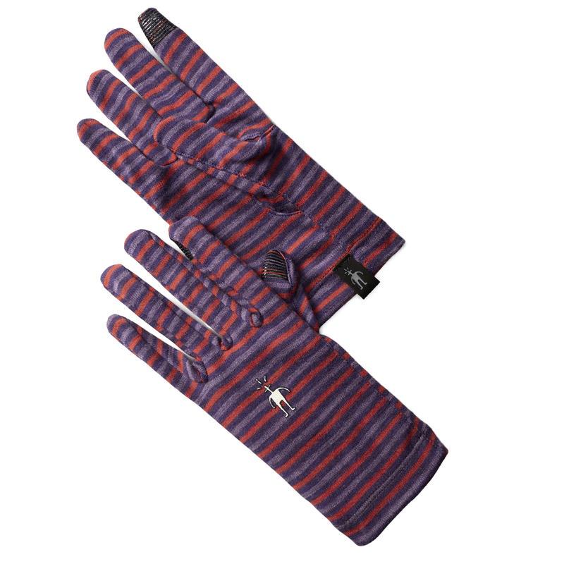 Gants Mid 250 en laine mérinos Pourpre montagne chiné