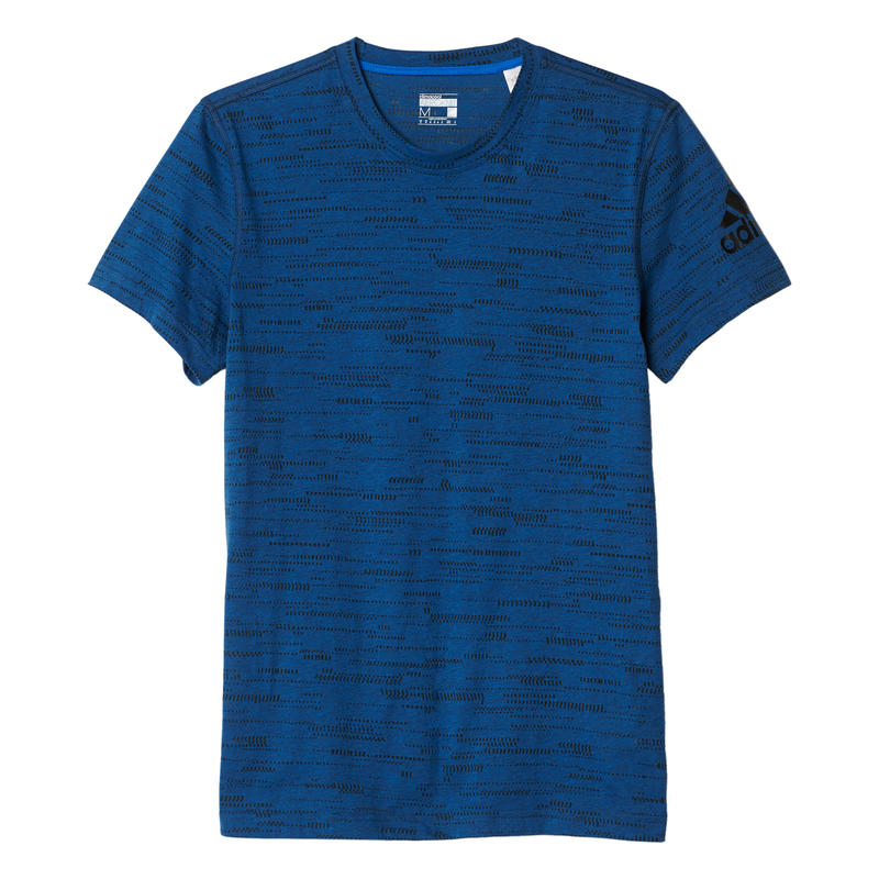 T-shirt Aeroknit Climacool Noir mélange/Bleu