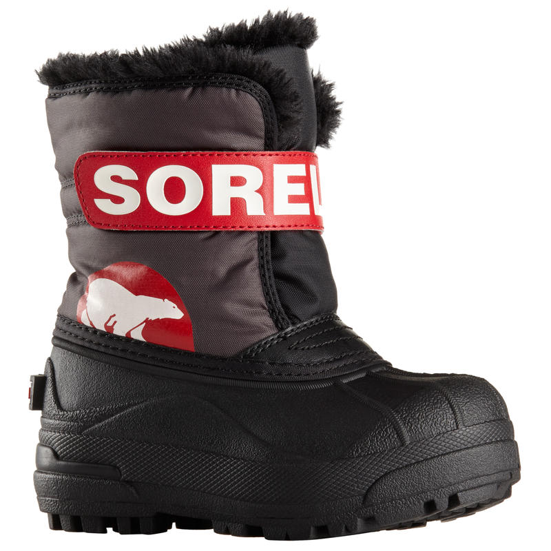 Snow Commander Winter Boots Dark Grey/Bright Red