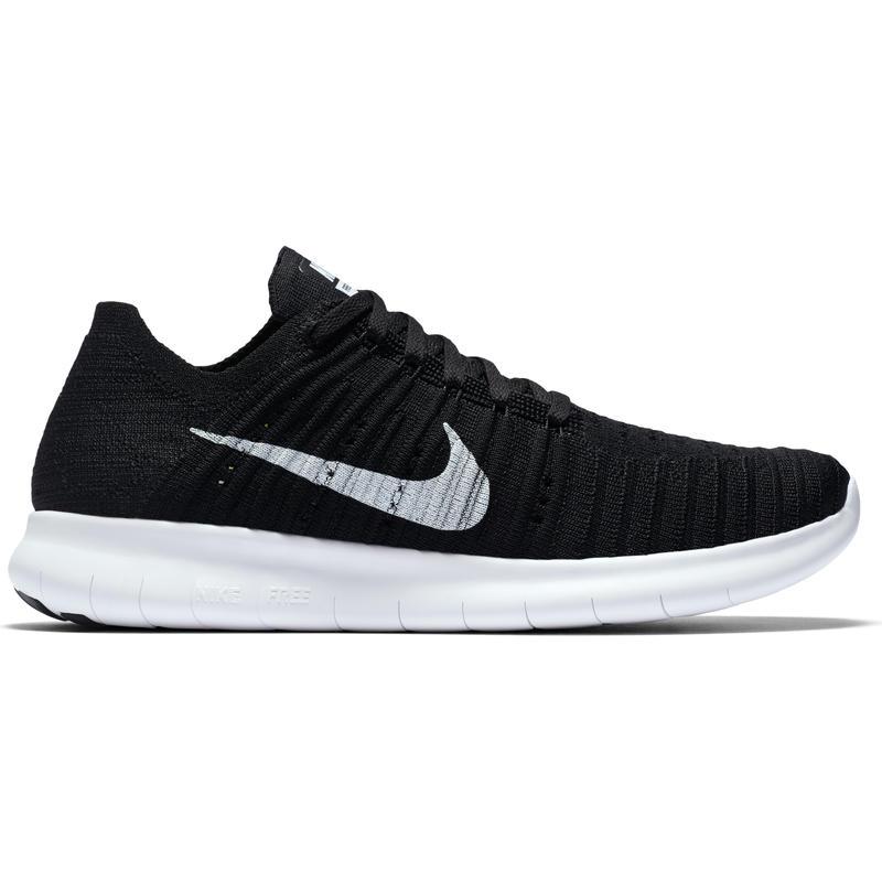 Chaussures de course sur route Free Run Flyknit Noir/Blanc
