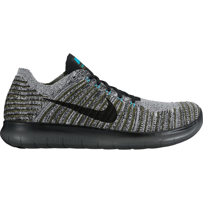 Chaussures de course sur route Free Run Flyknit Kaki cargo/Noir