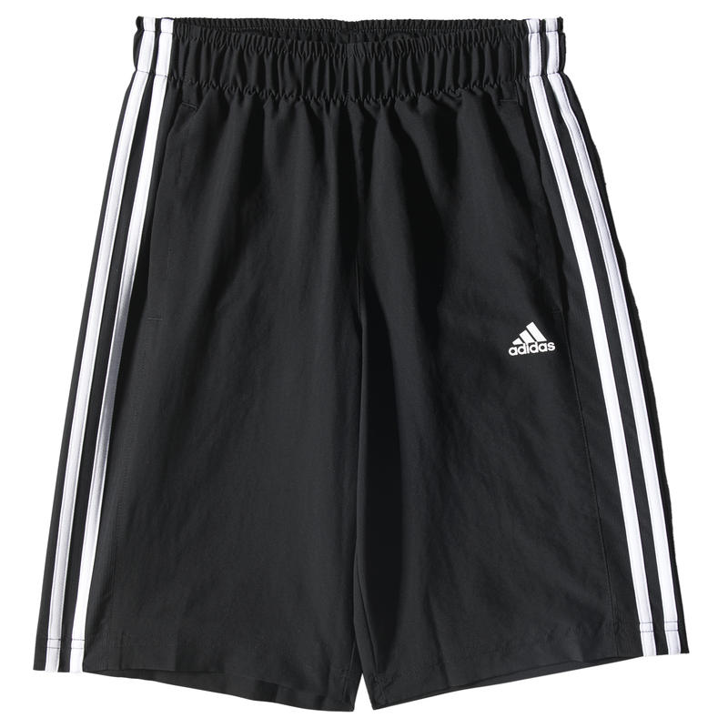 Short Essentials 3-Stripes Woven Noir/Blanc