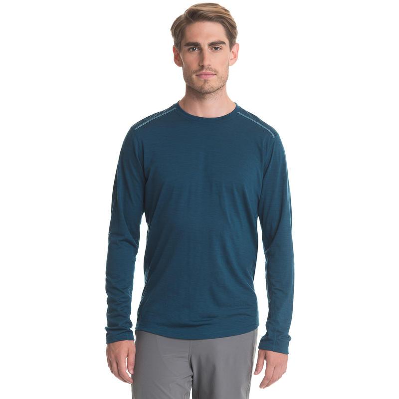 Argo Merino Long Sleeve Tee Blue Depth