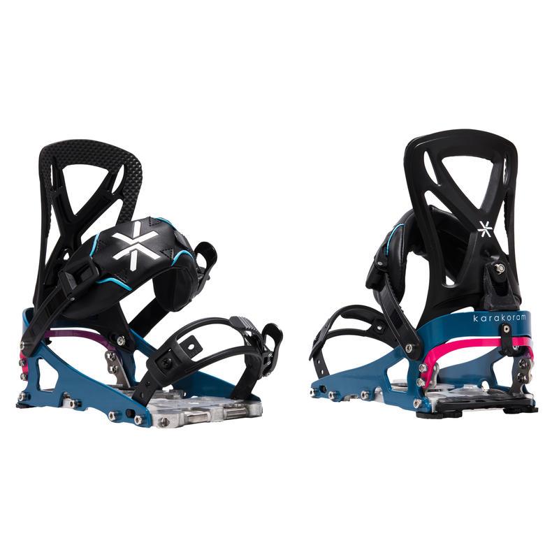 Fixations Prime SL pour planche à neige divisible Bleu