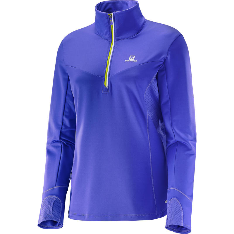 Maillot Trail Runner Warm Mid à manches longues Violet phlox