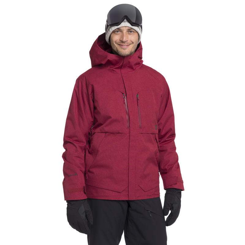 Variable Gradient Jacket Maroon Heather