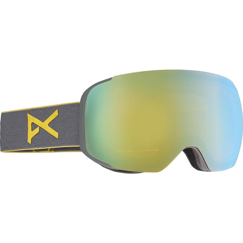 Lunettes de ski M2 Gris/Chrome or