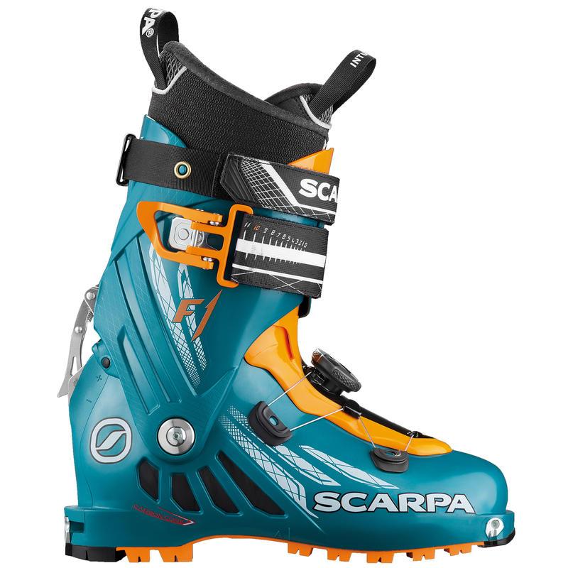 Bottes de ski F1 Bleu pétrole/Orange