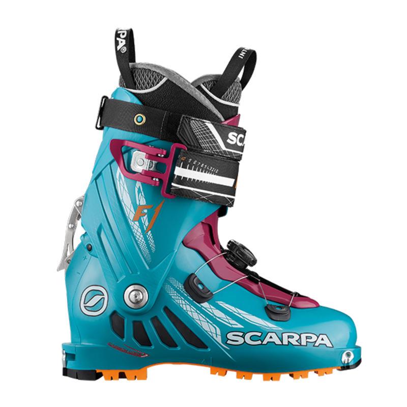 Bottes de ski F1 Bleu arctique/Pourpre