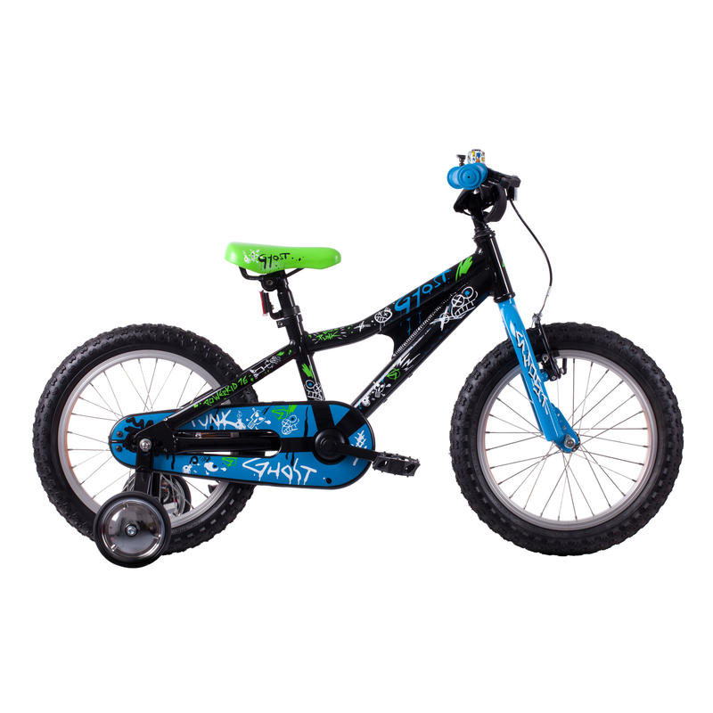 "Powerkid 16"" Bicycle Black/Blue"