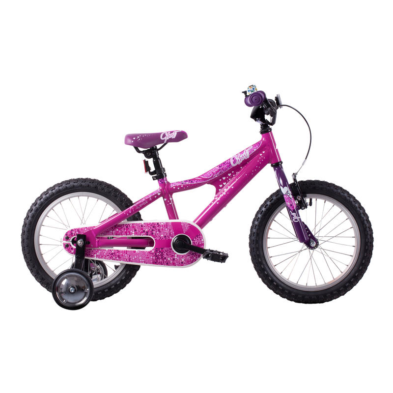 Vélo Powerkid 16 Rose/Blanc