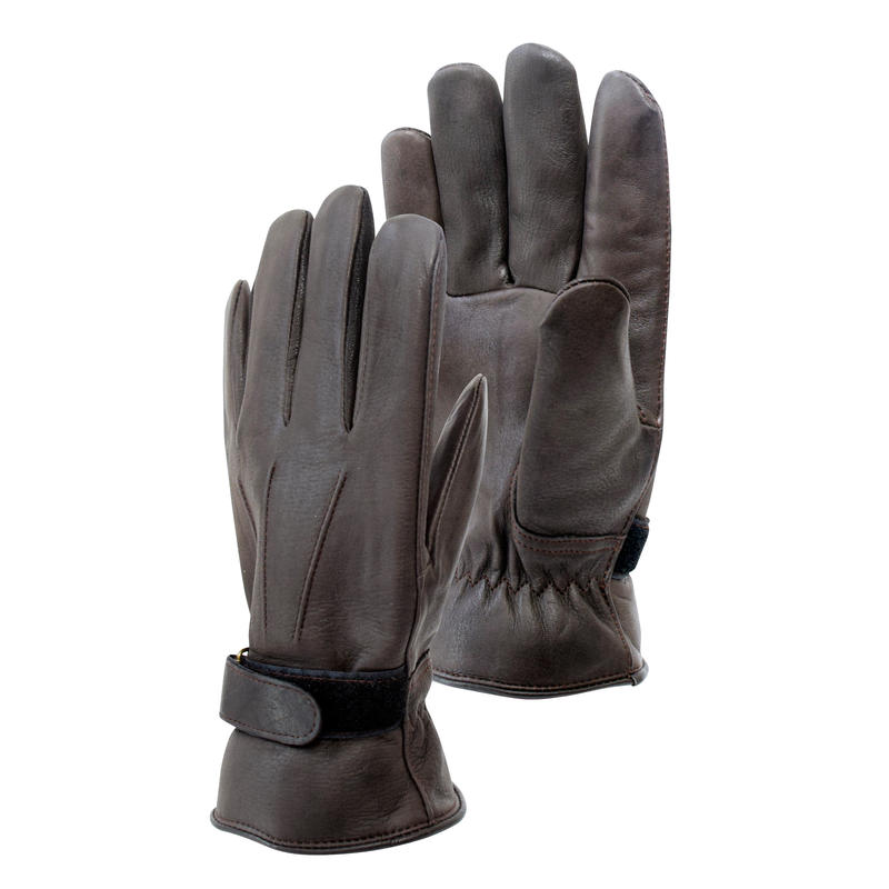 Deerskin Gloves Dark Brown