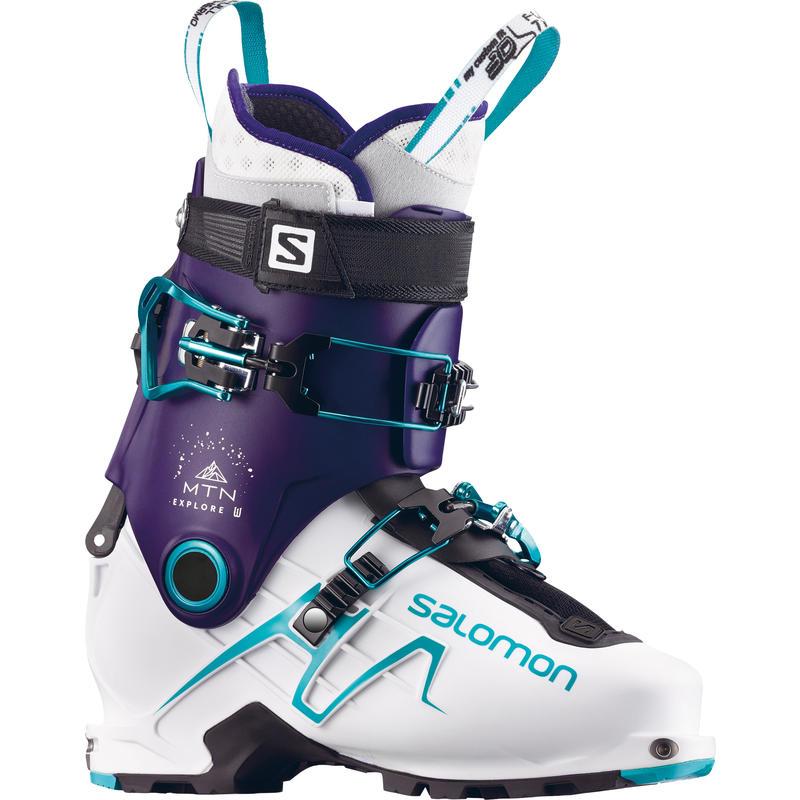 Bottes de ski MTN Explore Pourpre foncé/Blanc/Aqua