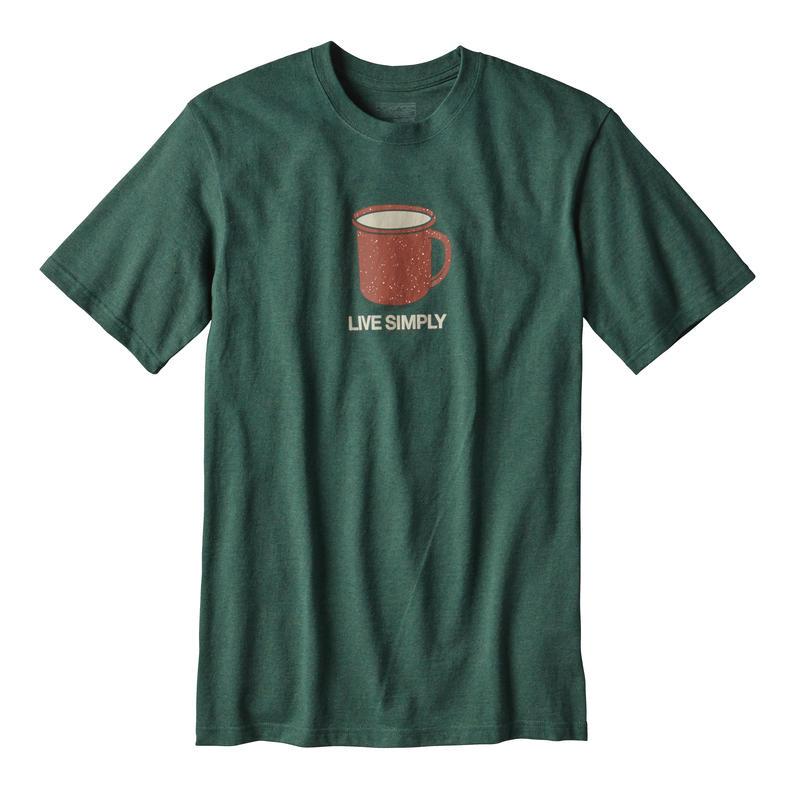 T-shirt Live Simply Mornings Responsibili-Tee Forêt riveraine