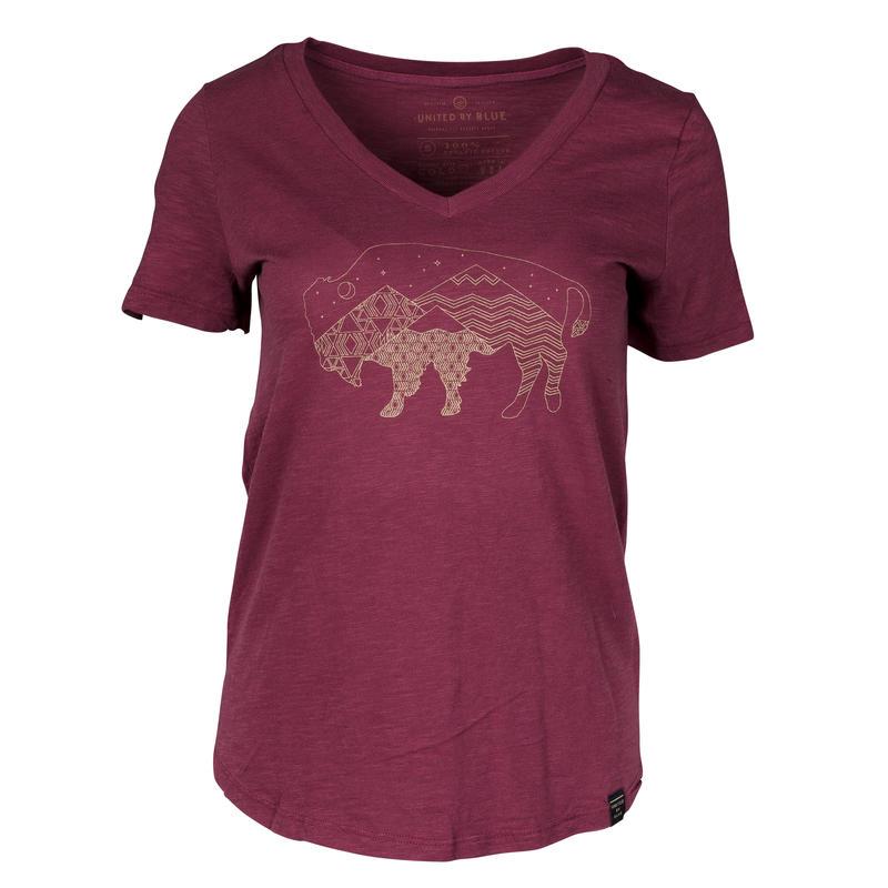 T-shirt Starry Bison Sang de bœuf