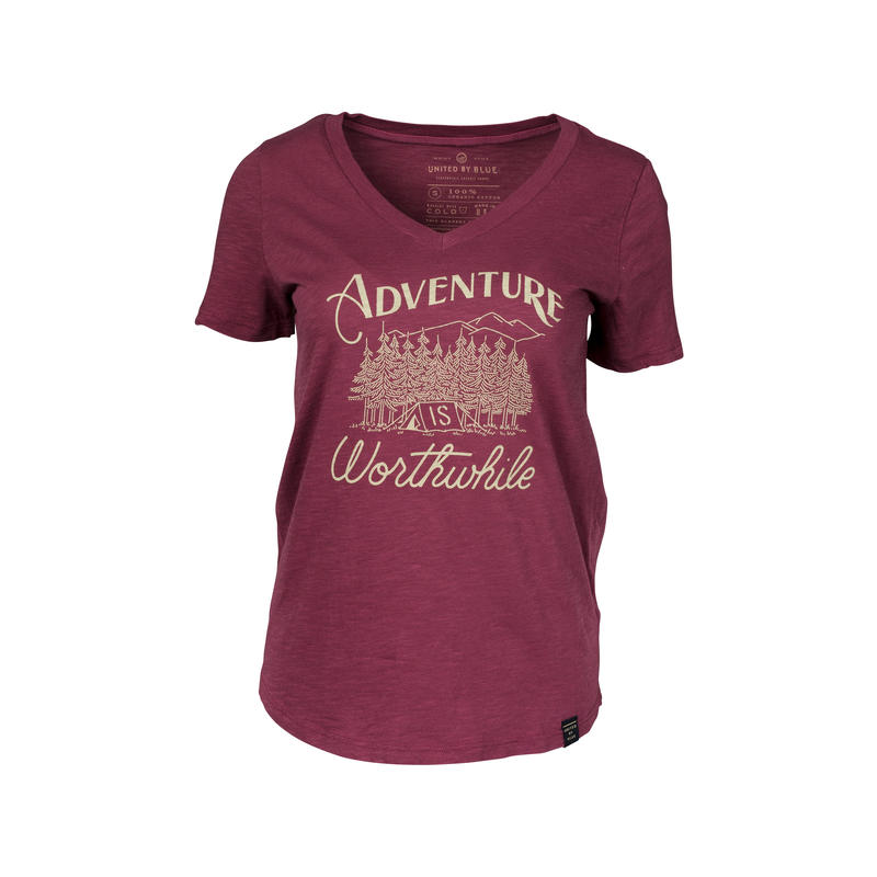 T-shirt Adventure Sang de bœuf