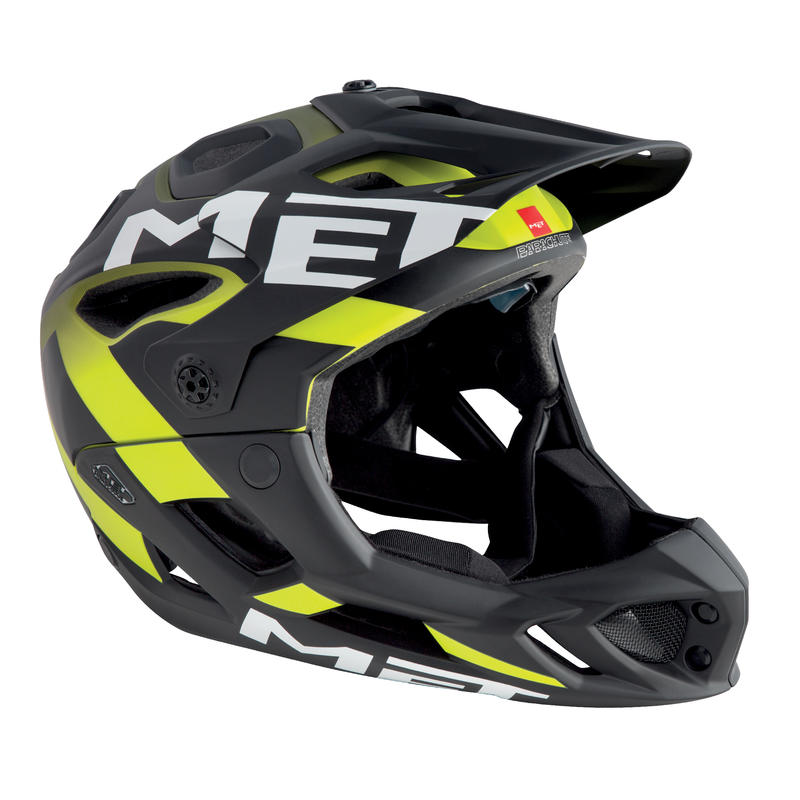 Parachute Helmet Yellow/green/black