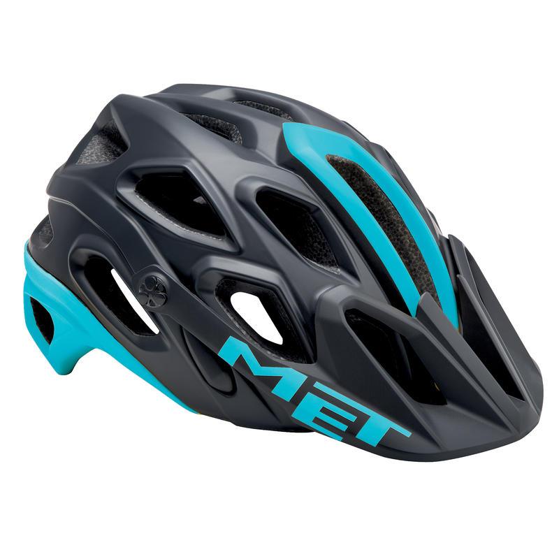 Lupo Bicycle Helmet Black/Light Blue