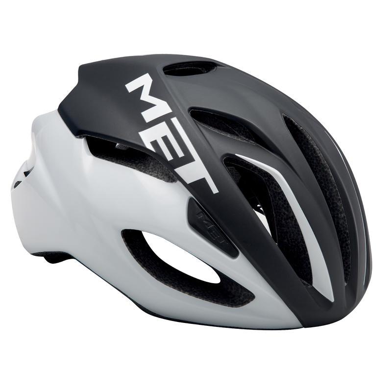 Casque de vélo Rivale Noir/Blanc