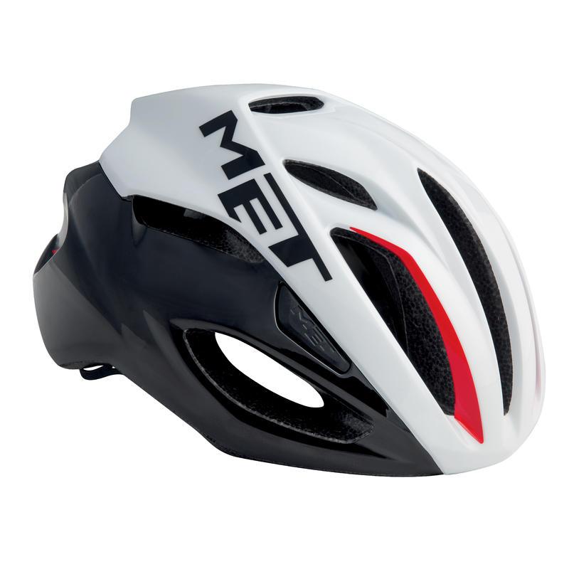 Rivale Bicycle Helmet white/black/red