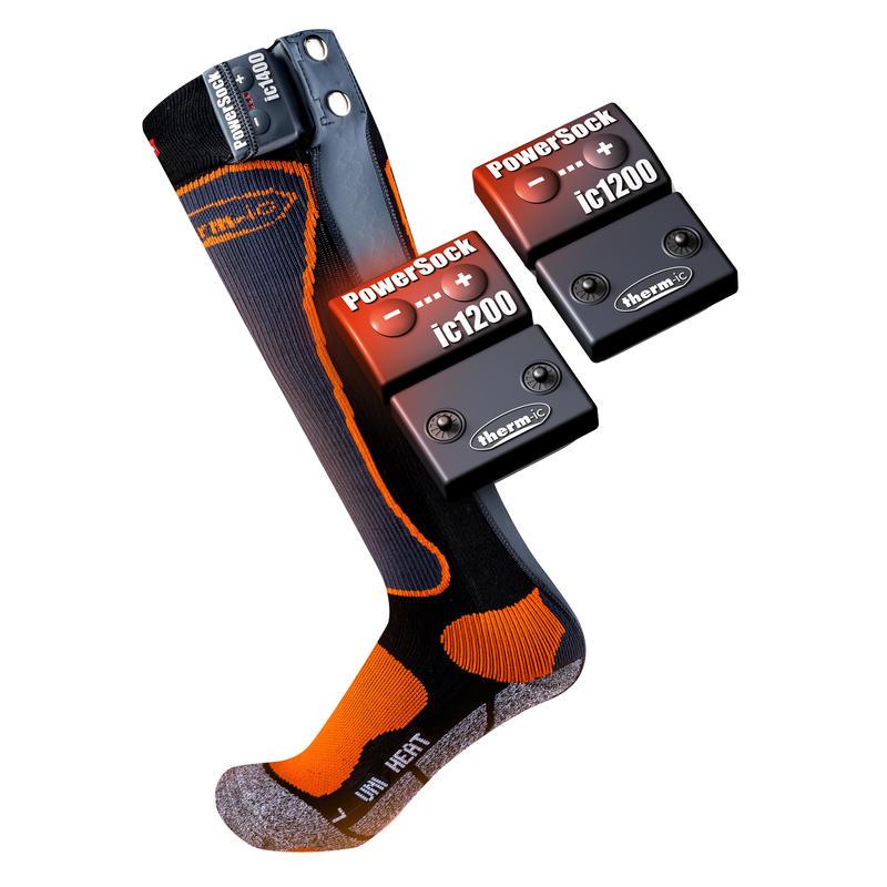 Chaussettes chauffantes PowerSock Set IC 1200 Uni