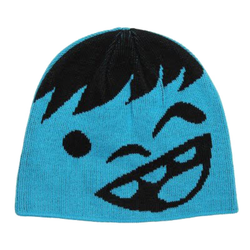 Tuque Youth Happy Noir/Cyan