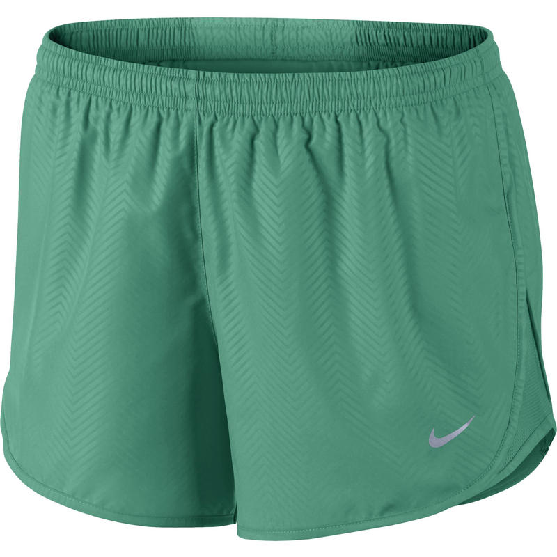 Modern Embossed Tempo Shorts Emerald Green