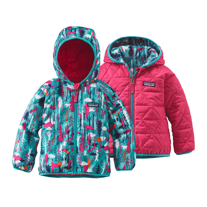 Reversible Puff-Ball Jacket 2 Pine Friends/Epic Blue