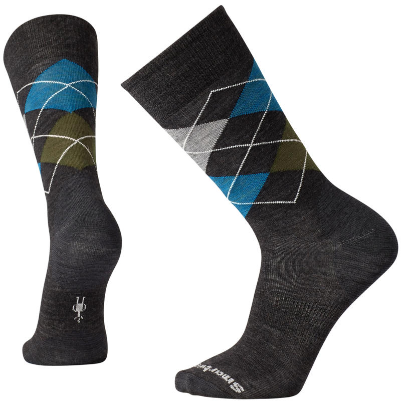 Diamond Slim Jim Crew Socks Charcoal Heather/Glacial