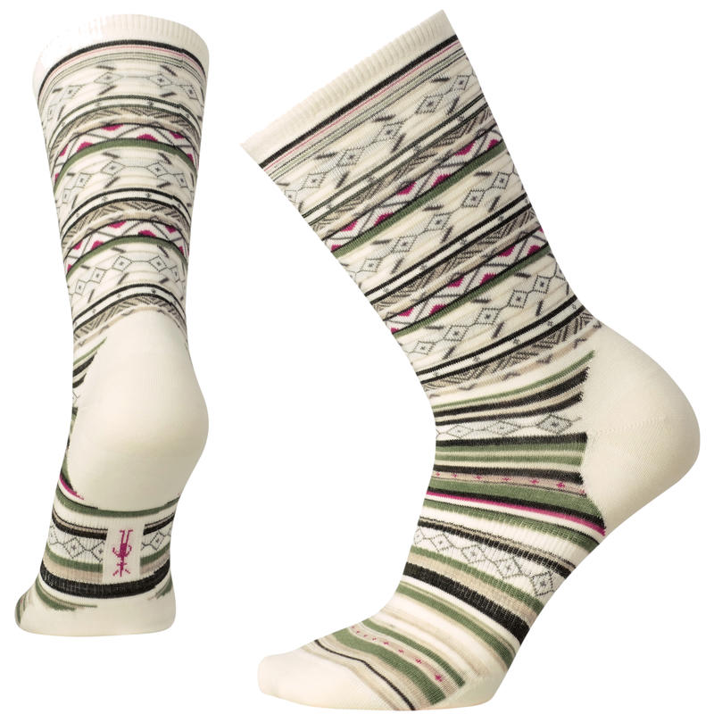 Chaussettes mi-mollet Ethno Graphic Rayures naturelles