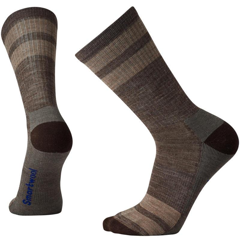 Hike Light Crew Socks Taupe Stripe