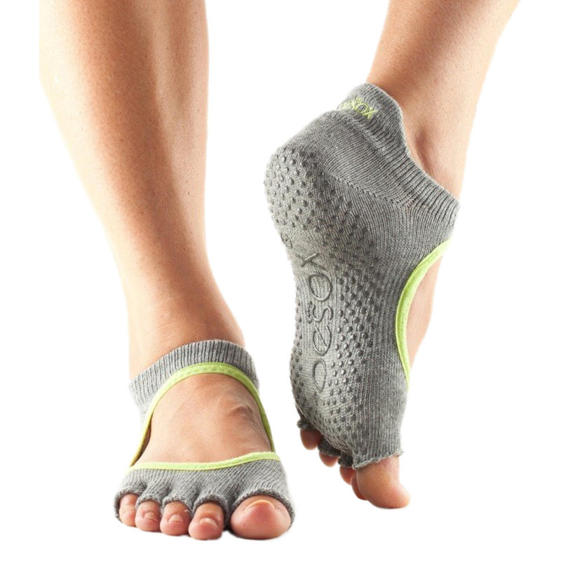 Chaussettes à orteils séparés ouvertes Bellarina Gris chiné/Jus de lime