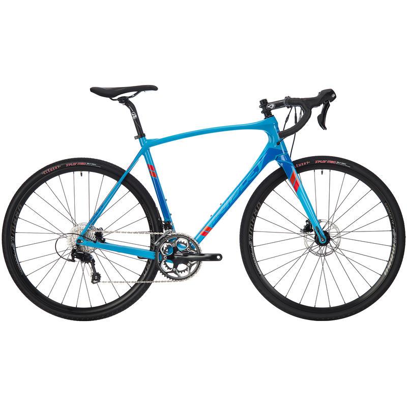 Vélo X-Trail C - 105 à freins hydrauliques Bleu/Rouge