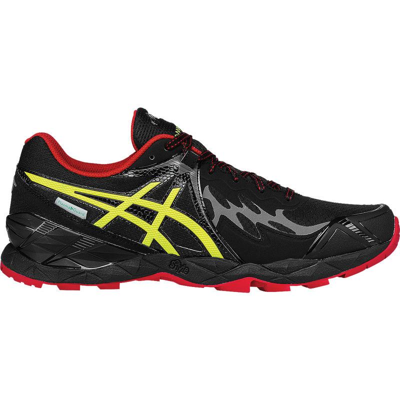 Chaussures de course sur sentier Gel-Fujiendurance Noir/Jaune sécurité