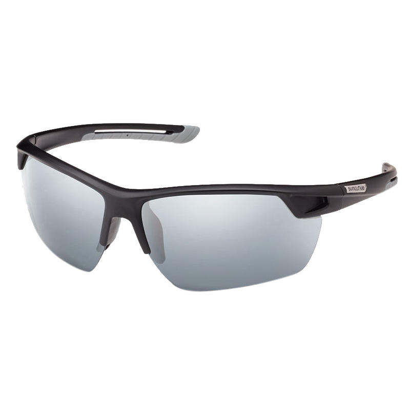 Contender Polarized Sunglasses Matte Black/Polar Grey w/Silver Mirror