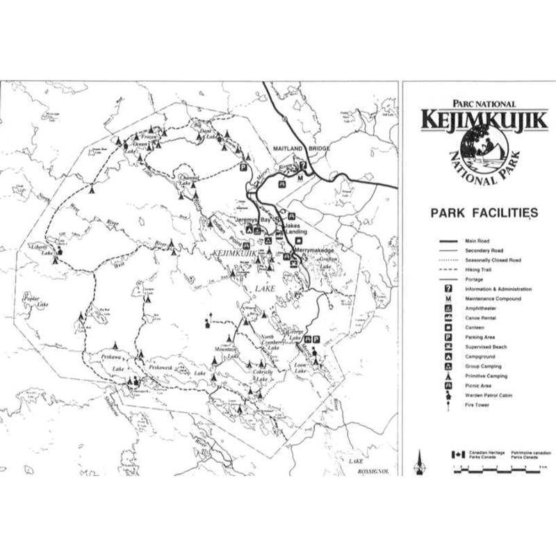 Kejimkujik National Park Guide Map Book