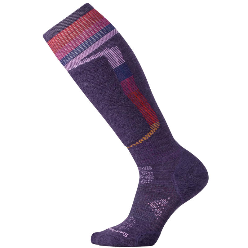 Chaussettes de ski PhD Ski Light Elite Pattern Pourpre montagne