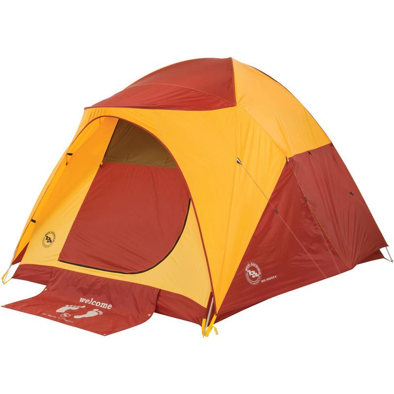 Tente Big House 6 Jaune/Rouge