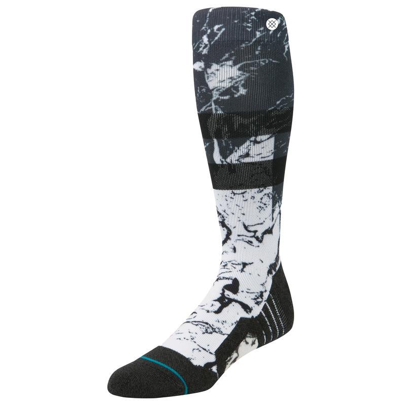 Chaussettes de ski Fusion en acrylique Minéral