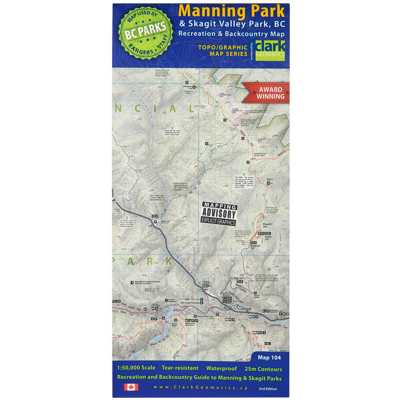 Manning Park&Skagit Valley Park Recreation Map 2Ed