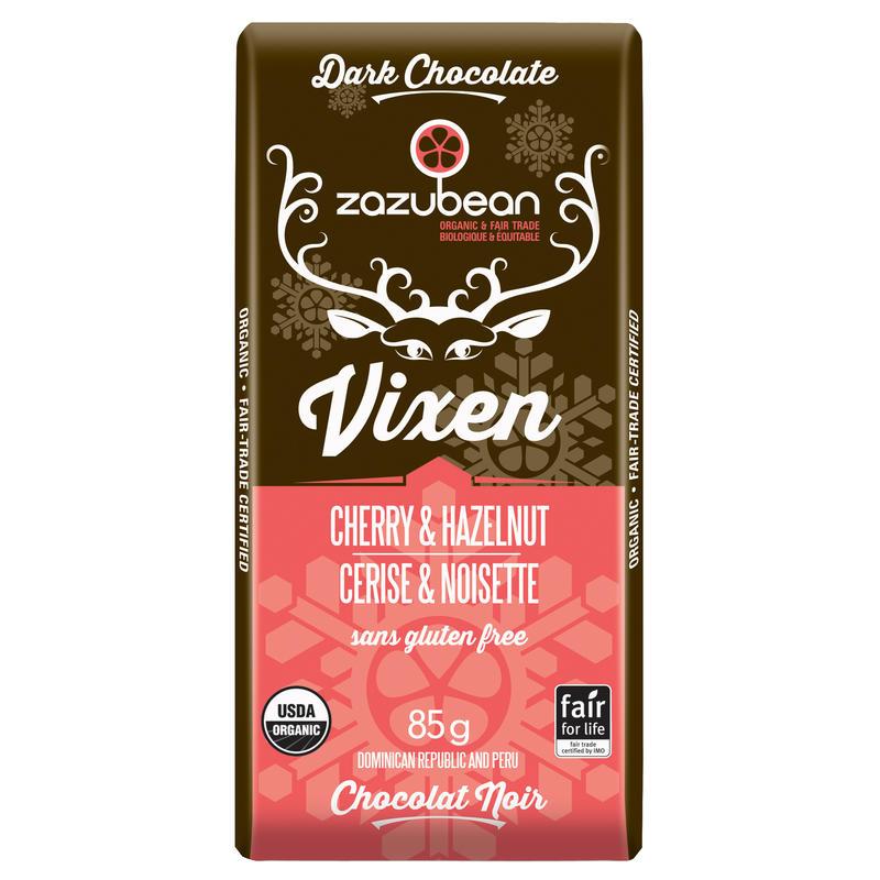 Tablette de chocolat Vixen cerise et noisettes