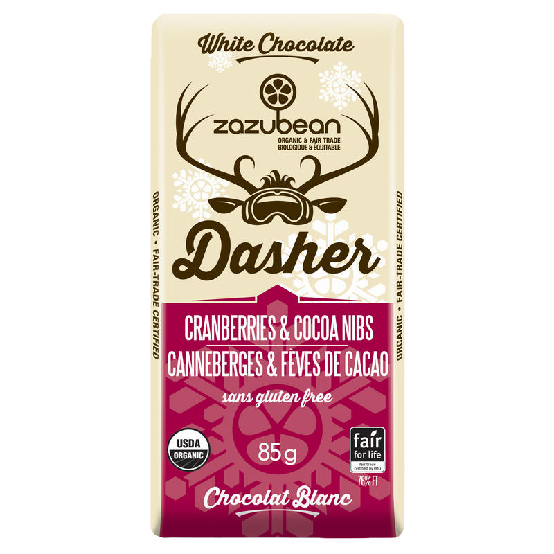 Tablette Dasher canneberges et éclats de cacao