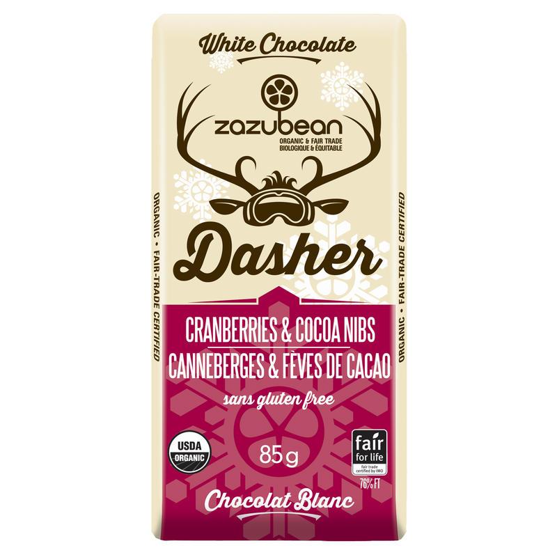 Tablette Dasher canneberges et éclats de cacao