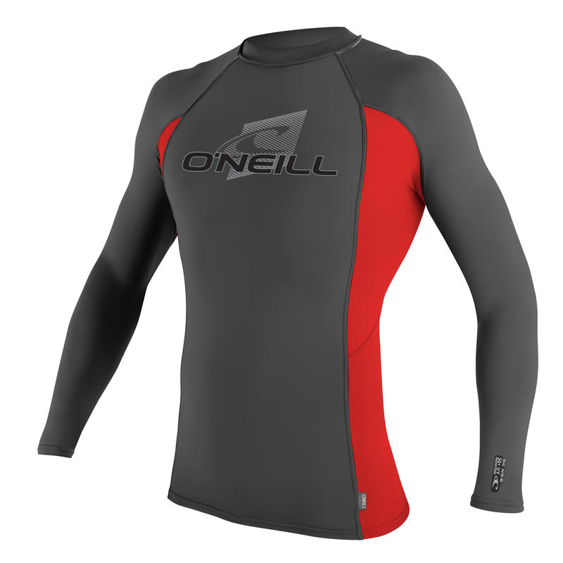 Skins Long-Sleeved Crew Graphite/Red/Graphite