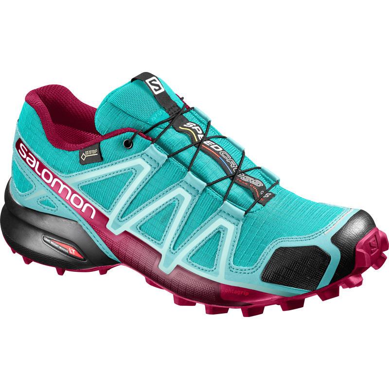 Chaussures de course sur sentier Speedcross 4 GTX Céramique/Bleu aruba/Sangria