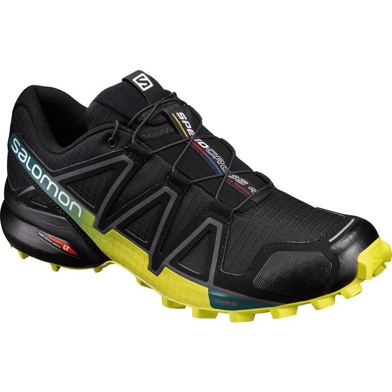 Chaussures de course sur sentier Speedcross 4 Noir/Marécage/Printemps sulphureux